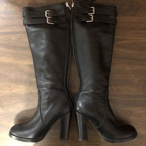 Chloe knee high back zip buckle boots size 38.5